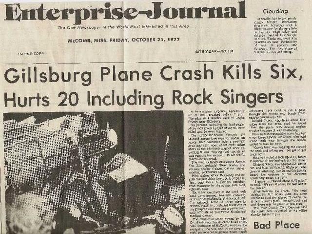 Ronnie Van Zant Plane Crash