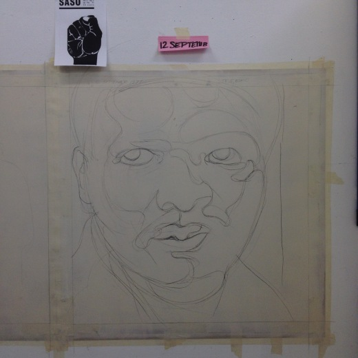 Lee Booth, Steve Biko drawing.