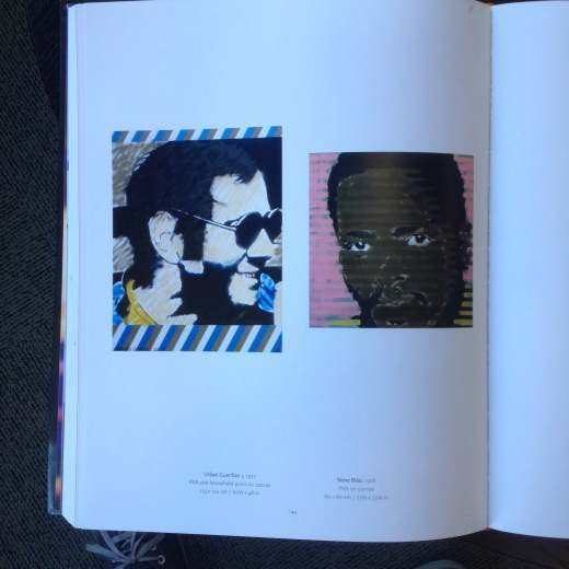This is the page I opened the book at. Keane's paintings of Steve Biko, 1978 and Andreas Baader, 1977.