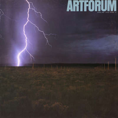 Art forum, April 1980, Walter De Maria, The Lightning Field, 1977.