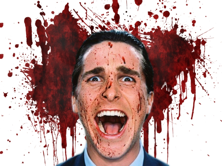 Christian Bale in Mary Harron's movie, American Psycho, 2000