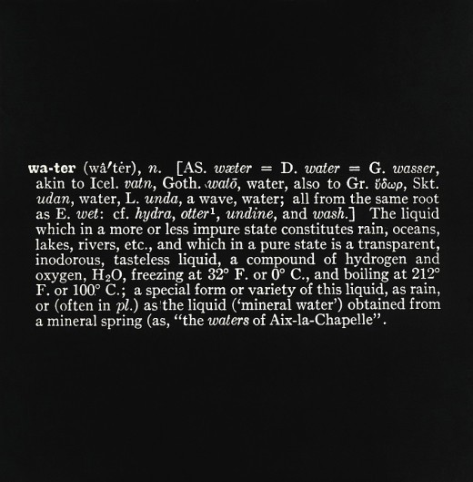 Joseph Kosuth, 'Titled (Art as Idea as Idea)' [Water], 1966, Photostat, mounted on board, 48 x 48 inches (121.9 x 121.9 cm)