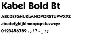Kabel Bold BT.ttf