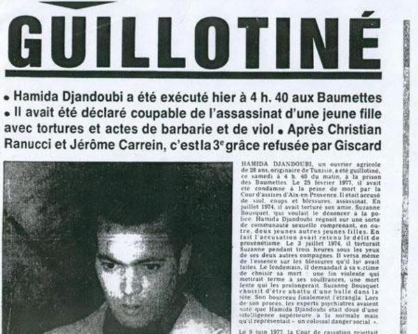 Iteration 4: 10 September 1977. Hamida Djandoubi | 77to15
