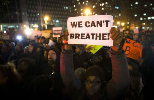 We cant breathe protester