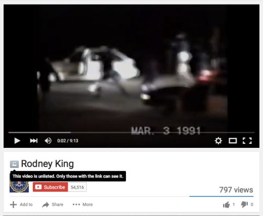 Rodney King Tape -FBI vaults